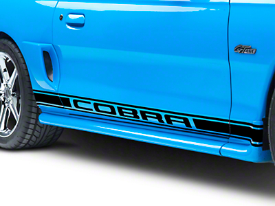 American Muscle Graphics Black Rocker Stripes w/ Cobra Lettering (94-04 All)