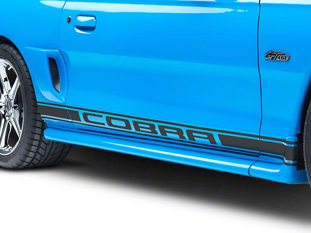American Muscle Graphics Matte Black Rocker Stripes w/ Cobra Lettering (94-04 All)