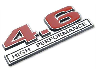 Add 4.6 High Performance Emblem - Red