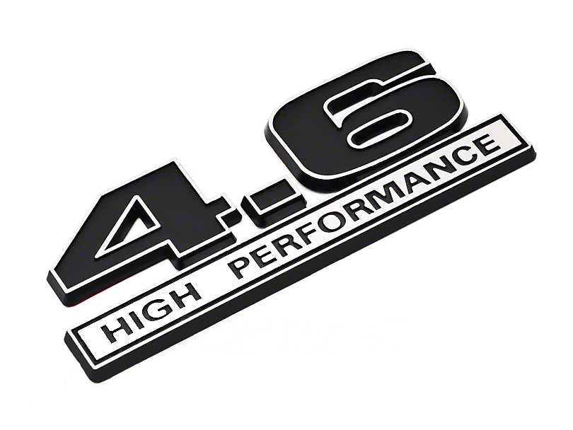 SpeedForm Black 4.6 High Performance Emblem