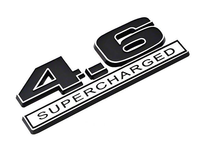 SpeedForm Black 4.6 Supercharged Emblem