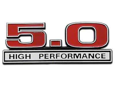 SpeedForm Red 5.0 High Performance Emblem