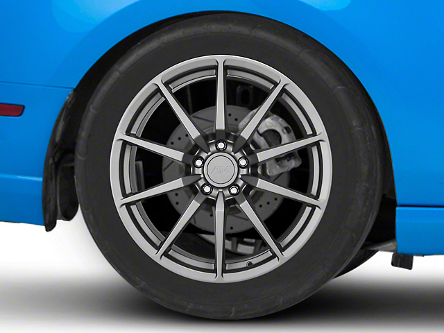 GT350 Style Charcoal Wheel; Rear Only; 19x10 (10-14 All)