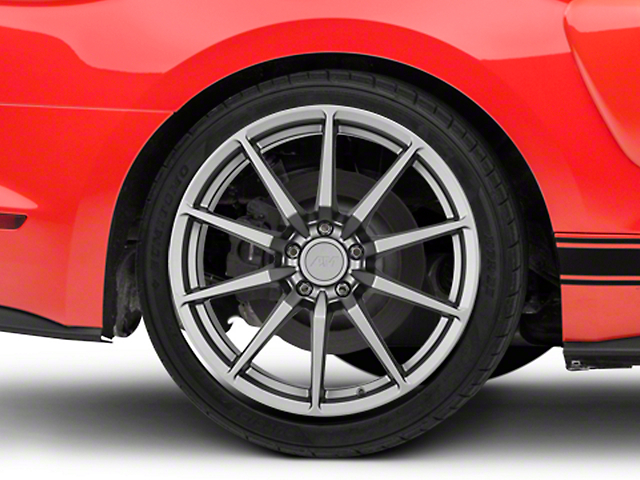 GT350 Style Charcoal Wheel - 19x10 - Rear Only (15-19 GT, EcoBoost, V6)