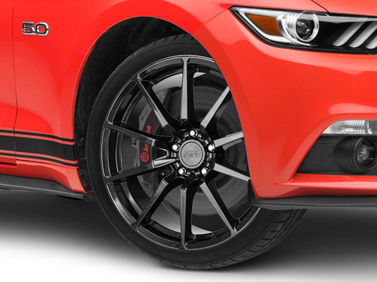 GT350 Style Black Wheel - 19x8.5 (15-18 GT, EcoBoost, V6)