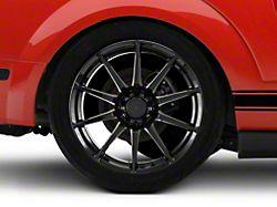 GT350 Style Black Wheel; Rear Only; 19x10 (05-09 All)