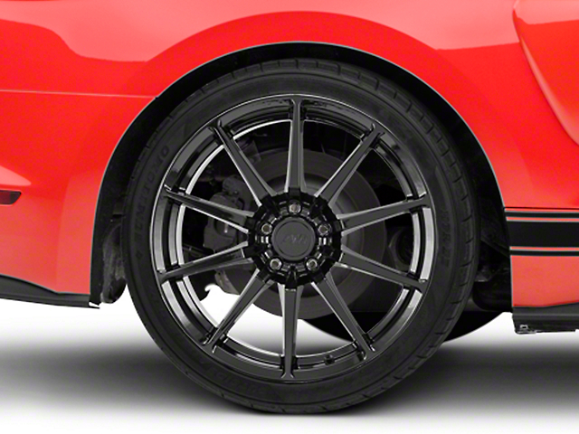 GT350 Style Black Wheel - 19x10 - Rear Only (15-20 GT, EcoBoost, V6)