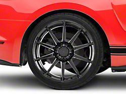 GT350 Style Black Wheel; Rear Only; 19x10 (15-20 GT, EcoBoost, V6)