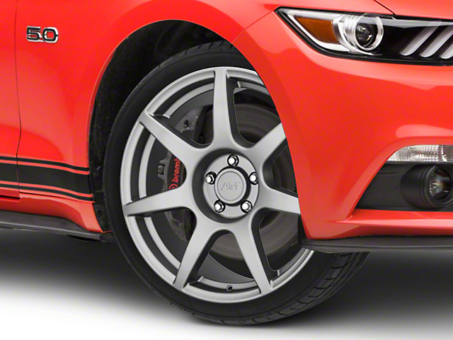 GT350R Style Charcoal Wheel; 19x8.5 (15-20 GT, EcoBoost, V6)