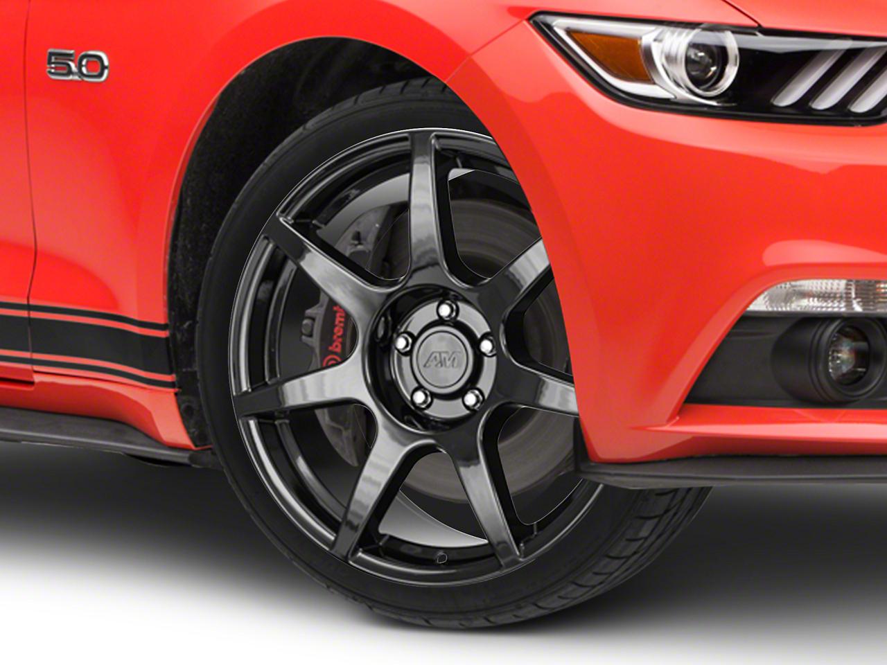 GT350R Style Black Wheel - 19x8.5 (15-17 GT, EcoBoost, V6)