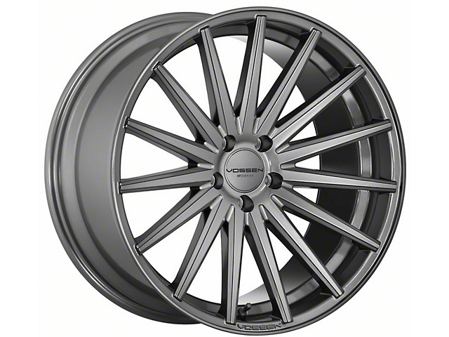 Vossen VFS-2 Gloss Graphite Wheel; Rear Only; 19x10 (10-14 Standard GT, V6)