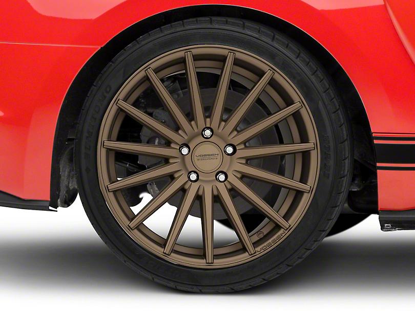 Vossen VFS-2 Satin Bronze Wheel - 19x10 - Rear Only (15-19 Standard GT, EcoBoost, V6)