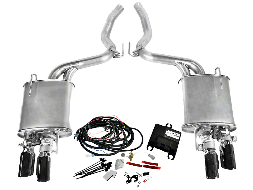 Roush Quad Tip Active Axle-Back Exhaust (15-17 GT Premium)