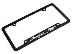 Ford License Plate Frame - Silver Pony w/ Silver Mustang Script (79-19 All)