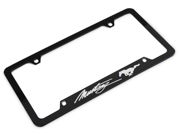 How To Install Ford License Plate Frame Silver Pony W