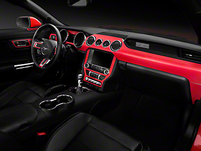 American Muscle Graphics Red Carbon Fiber Dash Kit (15-18 All)