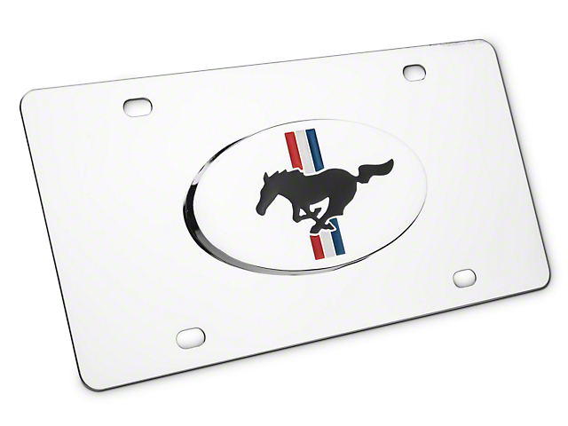 Ford License Plate - Tri-Bar & Running Pony (79-17 All)