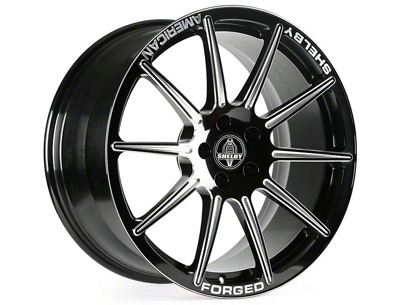 Shelby Venice Black Machined Wheel - 20x10.5 (15-17 All)