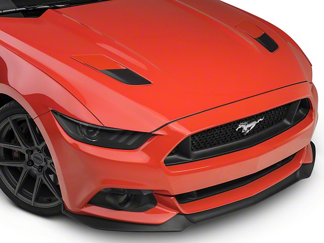 American Muscle Graphics Hood Vent Accent Decals - Black Carbon Fiber (15-17 GT)