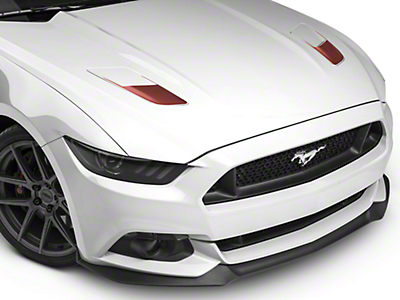 American Muscle Graphics Hood Vent Accent Decals - Red Aluminum Carbon Fiber (15-17 GT)