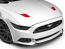 SEC10 Hood Vent Accent Decals; Red (15-17 GT)