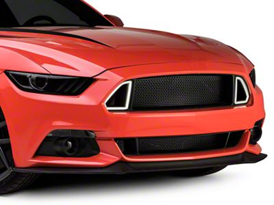 RTR Upper Grille with Lights and Lower Grille (15-17 GT, EcoBoost, V6)