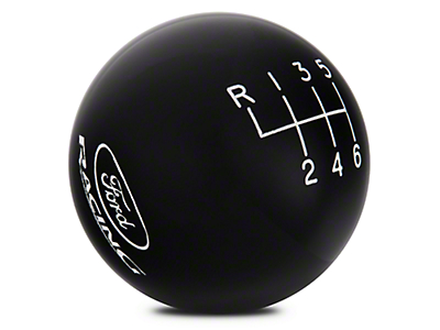 Ford Performance 6-Speed Shift Knob w/ Ford Racing Logo - Black (15-18 GT, EcoBoost, V6)