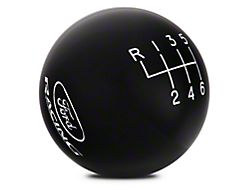 Ford Performance 6-Speed Shift Knob w/ Ford Racing Logo - Black (15-19 GT, EcoBoost, V6)