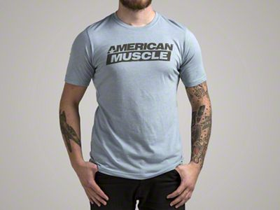 AmericanMuscle Distressed Blue T-Shirt - X-Large