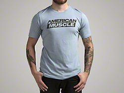 AmericanMuscle Distressed Blue T-Shirt - Large