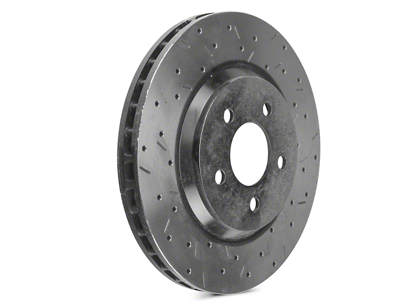 DBA 4000XS Series Drilled & Slotted Rotors - Front Pair (05-10 GT; 11-14 V6)