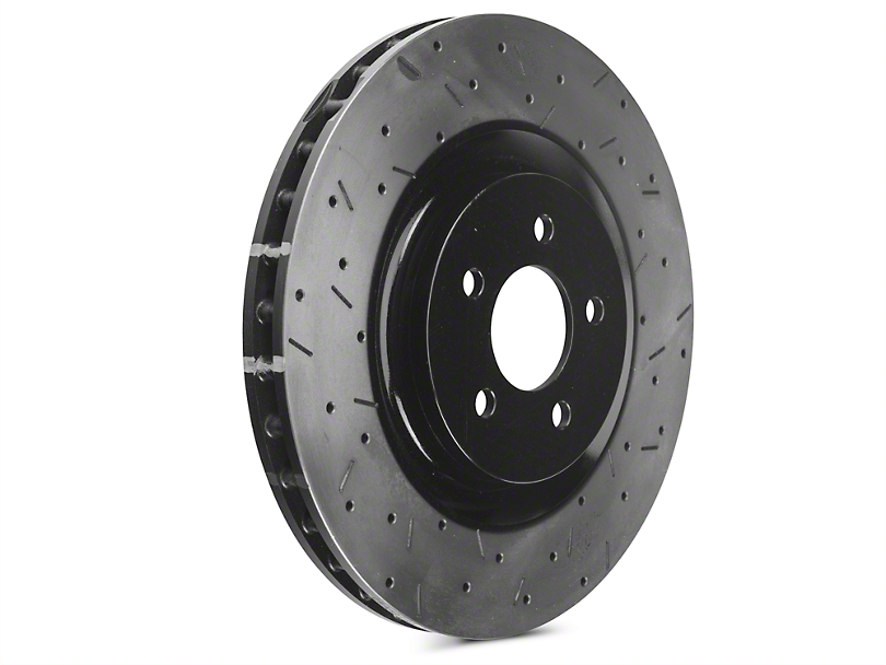 DBA 4000XS Series Drilled & Slotted Rotors - Front Pair (11-14 GT Brembo; 12-13 BOSS 302; 07-12 GT500)