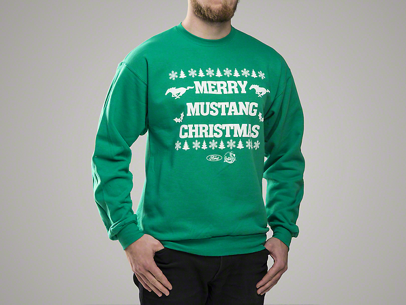 Merry Mustang Christmas Sweatshirt