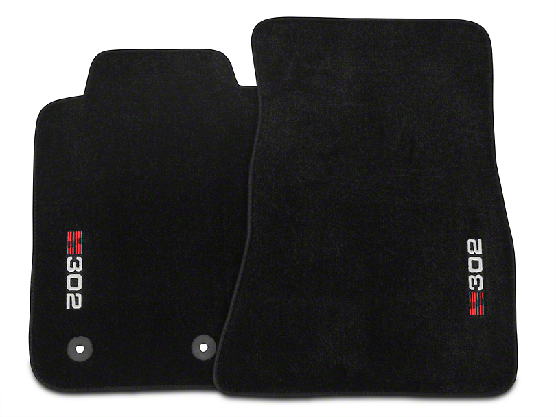 Saleen Front Floor Mats w/ S302 Logo - Black (15-18 All)