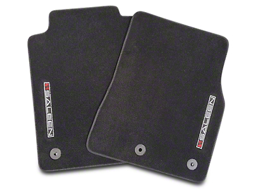 Saleen Front & Rear Floor Mats w/ Saleen Logo - Black (10-14 All)