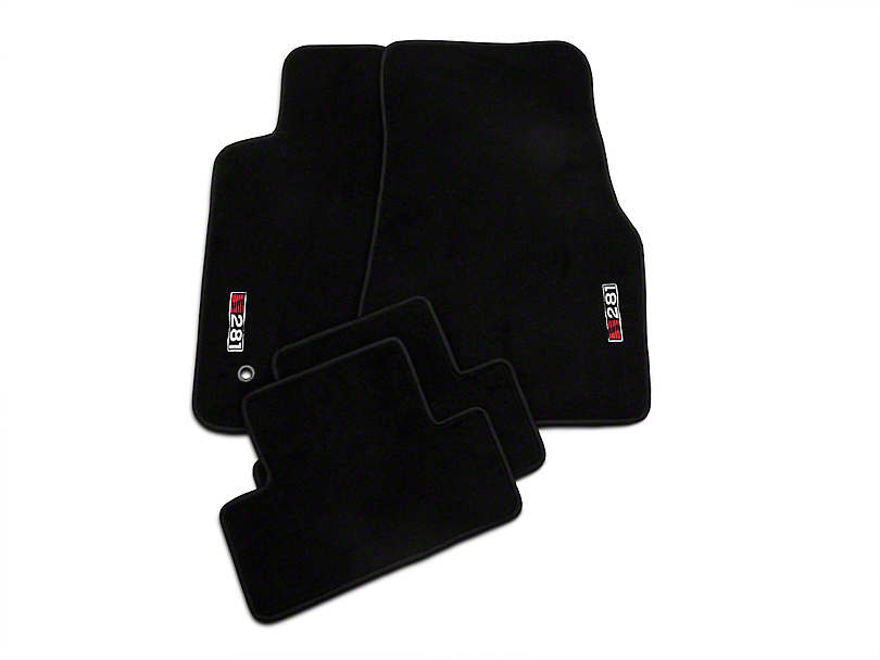 Saleen Front & Rear Floor Mats w/ S281 Logo - Black (05-09 All)