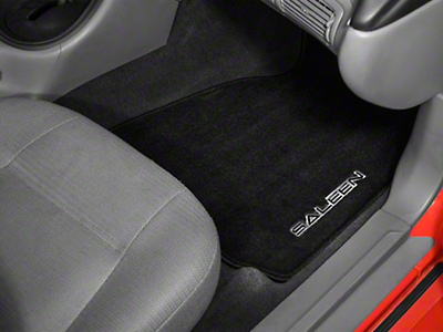Saleen Front & Rear Floor Mats w/ Saleen Logo - Black (99-04 All)