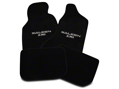 Saleen Front & Rear Floor Mats w/ Saleen S351 Logo - Black (94-98 All)