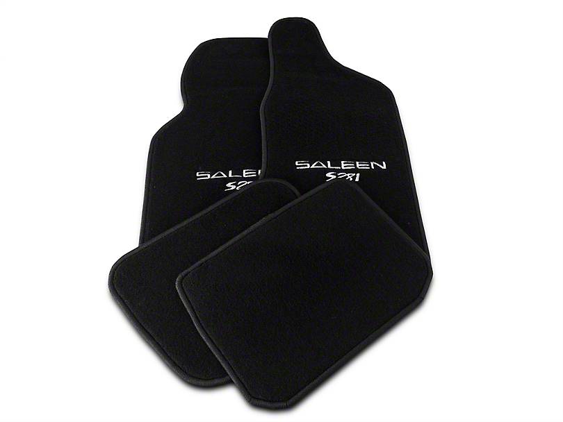 Saleen Front & Rear Floor Mats w/ Saleen S281 - Black (94-98 All)