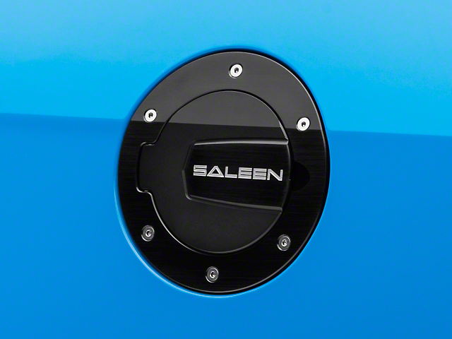 Saleen S302 Black Aluminum Fuel Door (10-14 All)