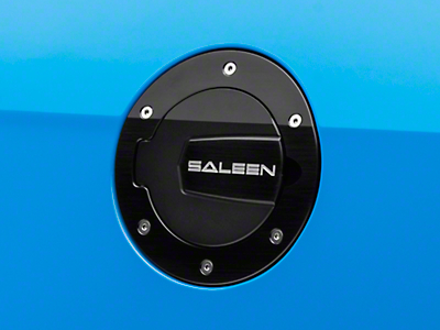 Saleen S302 Aluminum Fuel Door Black Finish (10-14 All)