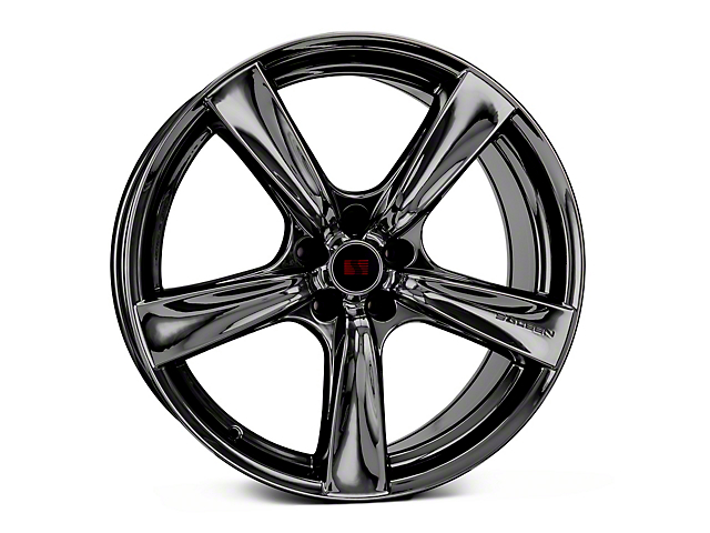 Saleen Secca Flo-Form Black Chrome Wheel; 20x10; Rear Only (10-14 All)