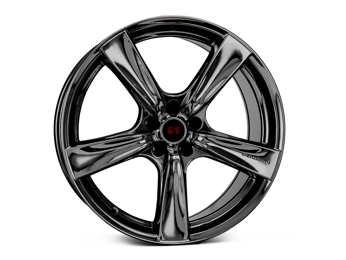 2005 Mustang Wheels >> Saleen Secca Flo Form Black Chrome Wheel 20x10 Rear Only 05 09 All