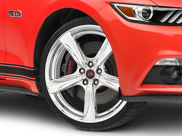 Saleen Secca Flo-Form Chrome Wheel - 20x9 (15-18 GT, EcoBoost, V6)