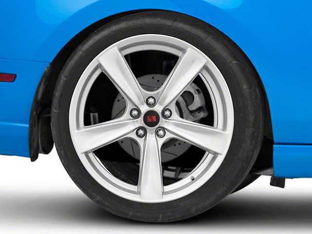 Saleen Secca Flo-Form Silver Wheel; Rear Only; 20x10 (10-14 All)