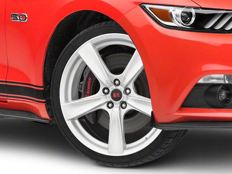 Saleen Secca Flo-Form Silver Wheel - 20x9 (15-18 GT, EcoBoost, V6)