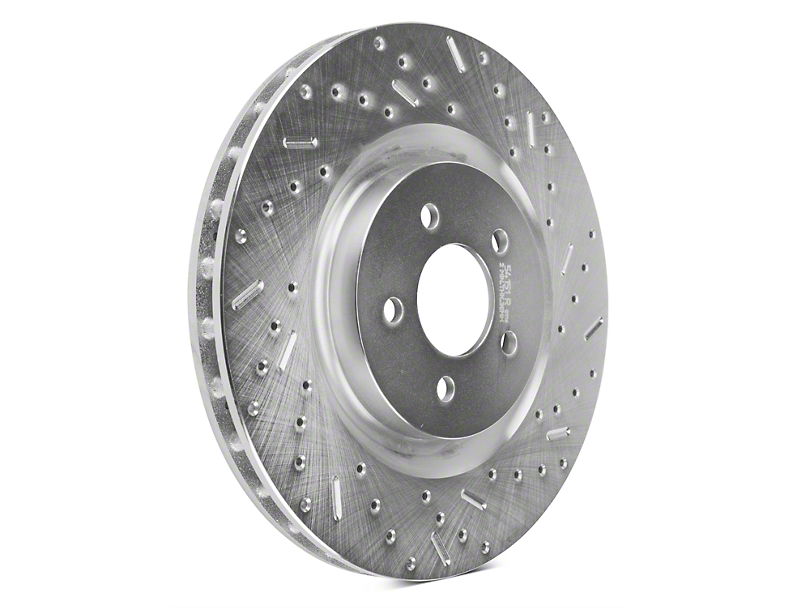 Xtreme Stop Precision Cross-Drilled & Slotted Rotors - Front Pair (11-14 GT Brembo; 12-13 Boss; 07-12 GT500)