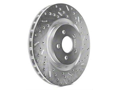 Xtreme Stop Precision Cross-Drilled & Slotted Rotors - Front Pair (11-14 GT Brembo; 12-13 BOSS 302; 07-12 GT500)