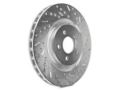 Xtreme Stop Precision Cross-Drilled and Slotted Rotors; Front Pair (11-14 GT Brembo; 12-13 BOSS 302; 07-12 GT500)