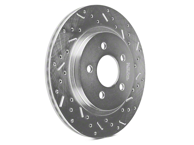 Xtreme Stop Precision Cross-Drilled and Slotted Rotors; Rear Pair (05-14 All, Excluding 13-14 GT500)